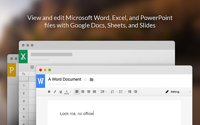 office editing for docs sheets slides
