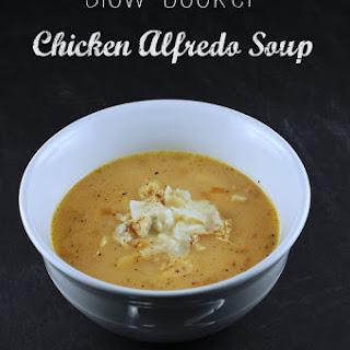 Slow Cooker Chicken Alfredo Soup.
