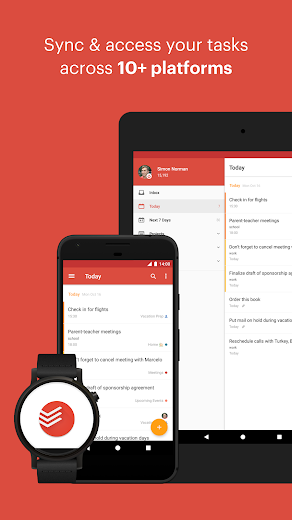 Screenshot 4 for Todoist's Android app'