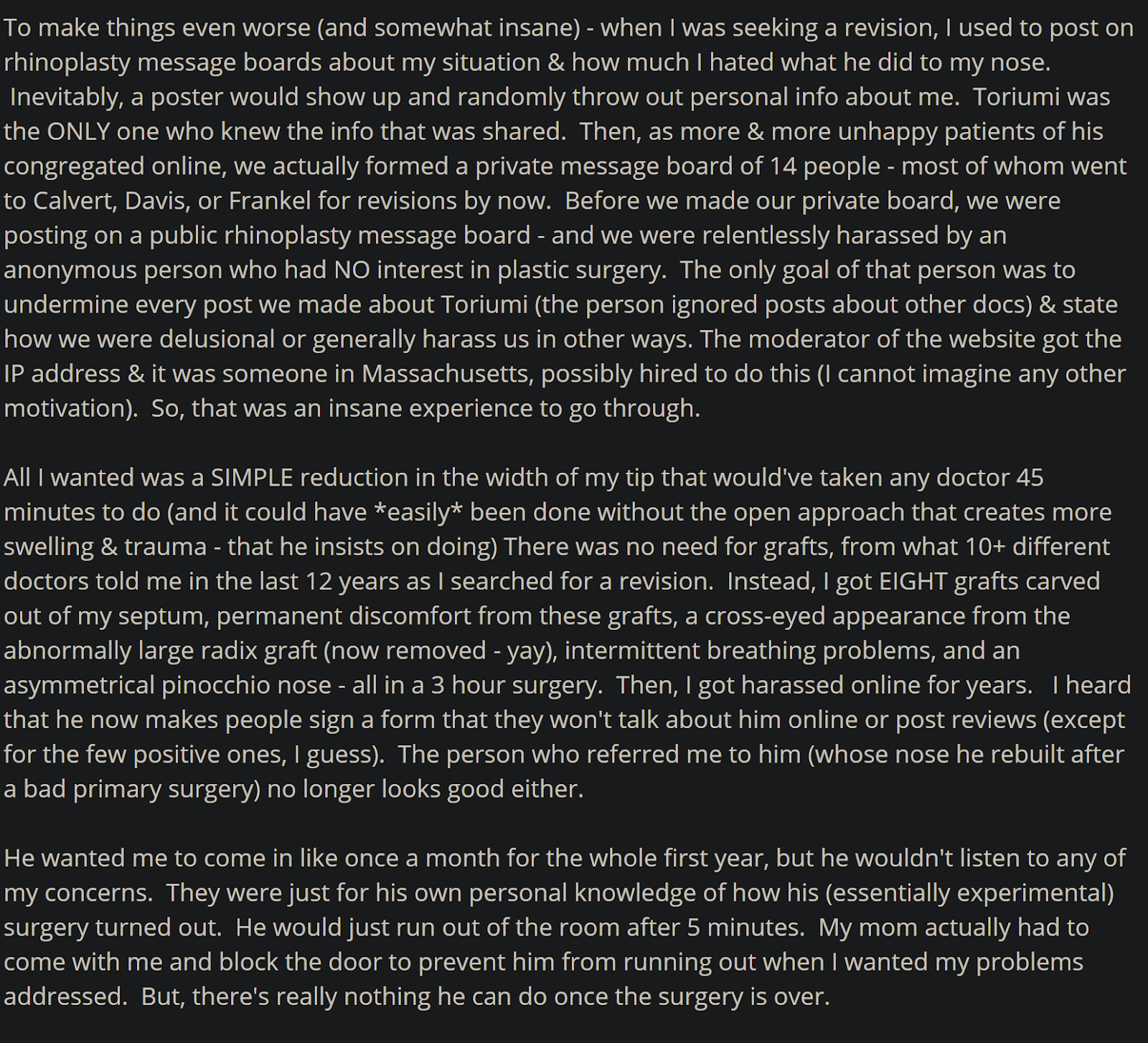 Dr. Dean Toriumi review 5