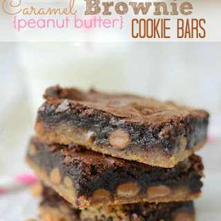 Brownie Caramel Peanut Butter Cookie Bars