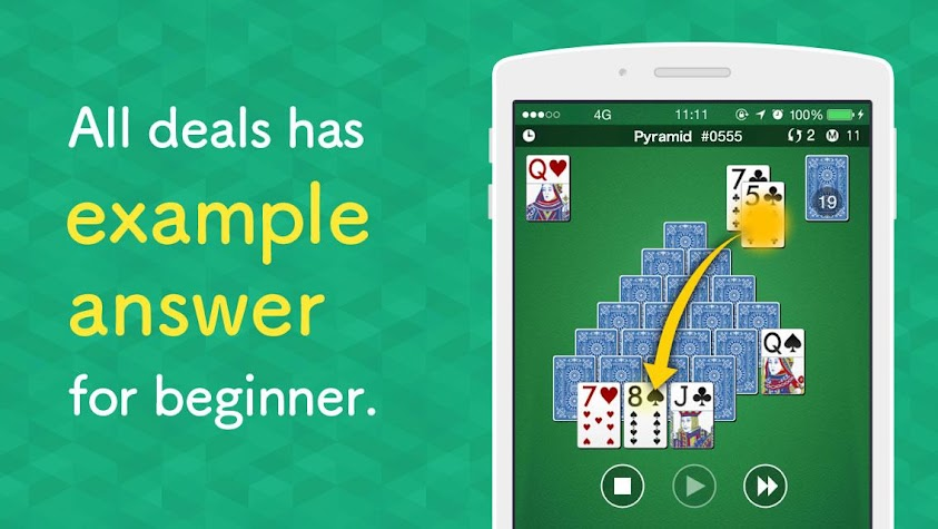 Pyramid Solitaire 1000 Screenshot