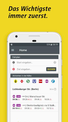 BVG Fahrinfo Berlin 6.7.2 (104) screenshots 6