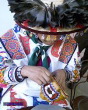 Photo: A Huichol artist at work