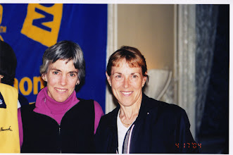 Photo: Joan Benoit Samuelson, Jacqueline Hansen - Boston Marathon (photo by Mitch Garner)