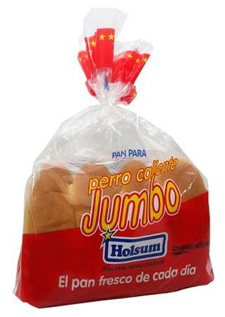 Pan Perro Caliente Holsum Jumbo 500gr 8 Unidades