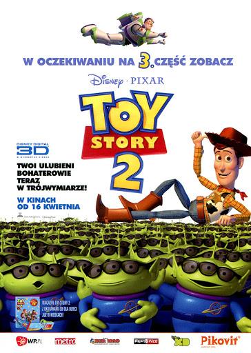Przód ulotki filmu 'Toy Story 2 3D'