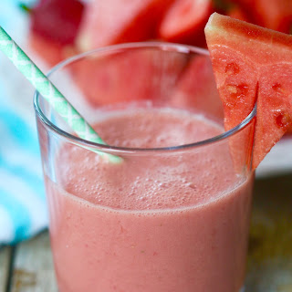 Watermelon Strawberry Morning Smoothie.