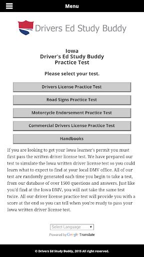 Iowa Driver License Test
