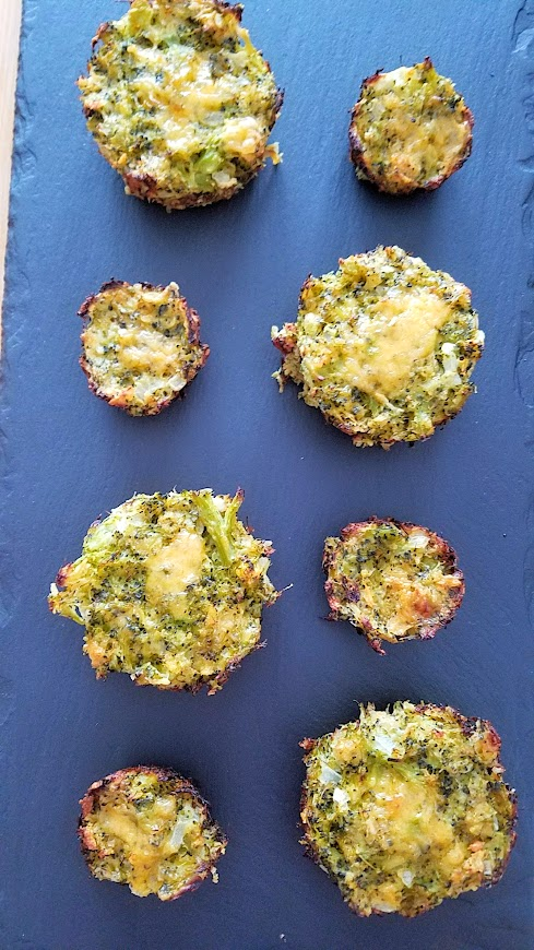 Recipe for Broccoli and Cheese Muffins, a natural green food for St Patricks Day or any day. You can make muffin sized ones which are nice and portable snacks, or do mini muffin ones for a party.