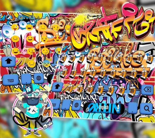 Graffiti Wall Keyboard theme  screenshots 2