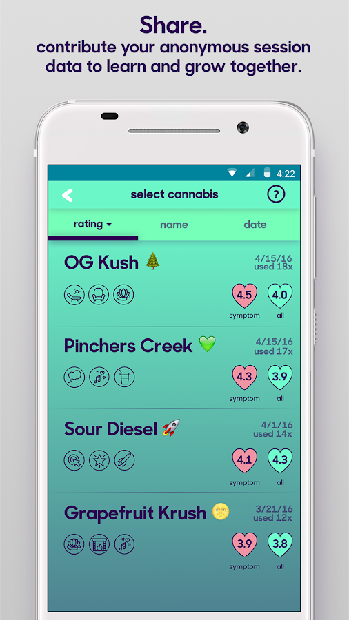 releaf marijuana tracking- screenshot