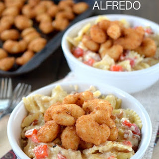 Bacon Shrimp Alfredo Pasta