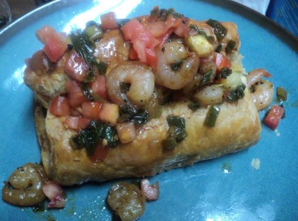 Salmon Wrap W/ Scallion, Tomato And Shrimp Recipe
