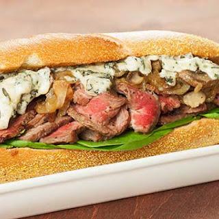 Grilled Rib-Eye Sandwich with Blue Cheese.