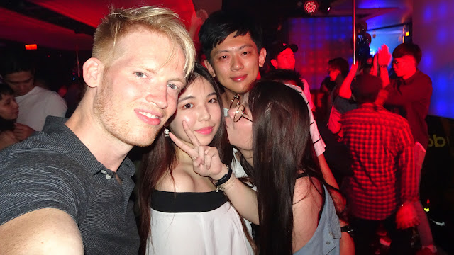 making new friends at Muse Nightclub in Kaohsiung, Taiwan in Kaohsiung, Kao-hsiung city, Taiwan