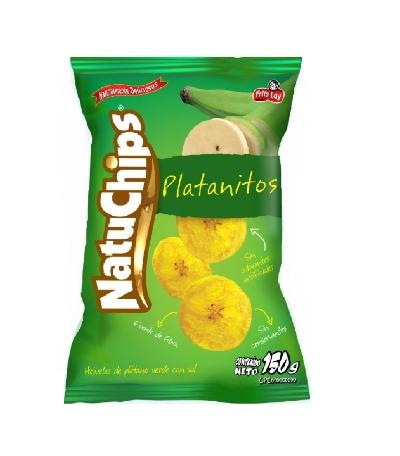 Snack Natuchips Platanitos Fritos 150Gr