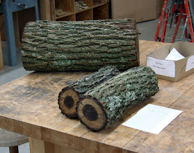 Photo: The Silent Auction had some nice walnut logs from guest Glenn Ashlely. Thanks Glenn!