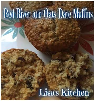Red River and Oats Date Muffins