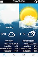 Screenshot of Weather for Belgium + World