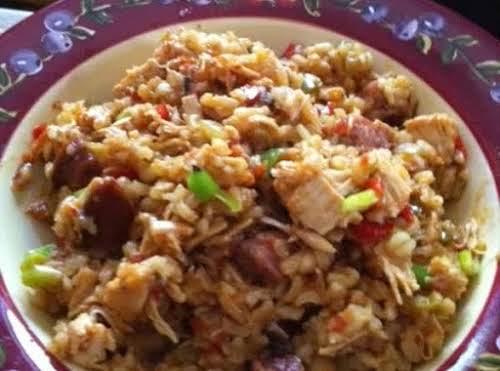 "Shut the FFFront Door - Sausage Chicken Jambalaya""My family loves this dish...."