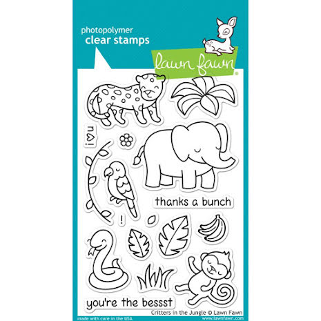 Lawn Fawn Clear Stamps 4X6 - Critters In The Jungle