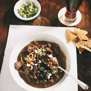 Beef Chili with Ancho, Mole, and Cumin.