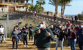 La protesta por las obras en el yacimiento de Baria, en imágenes