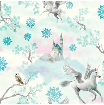 Enhörning Imagine Fun Arthouse Fairytale Unicorn Tapet Isblå 667800