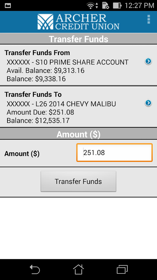 Archer CU Mobile Banking- screenshot
