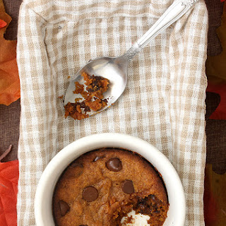 Single Serving Pumpkin Chocolate Chip Cookie (Egg Free)
