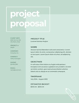 Simple Project - Project Proposal item