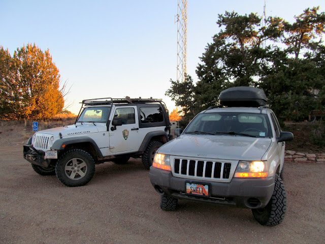 NPS and Swell Jeeps at the Hans Flats Ranger Station