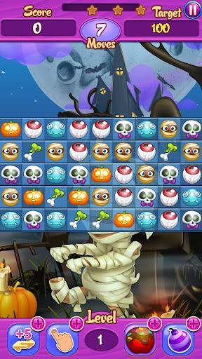 Halloween Pumpkinhead Match v1.1 APK (Mod Gems + Lives)