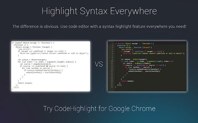 CodeHighlight - edit sources everywhere