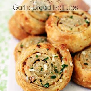 Puff Pastry Garlic Bread Roll-ups.