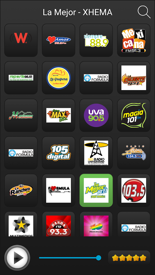 Radio Mexico- screenshot