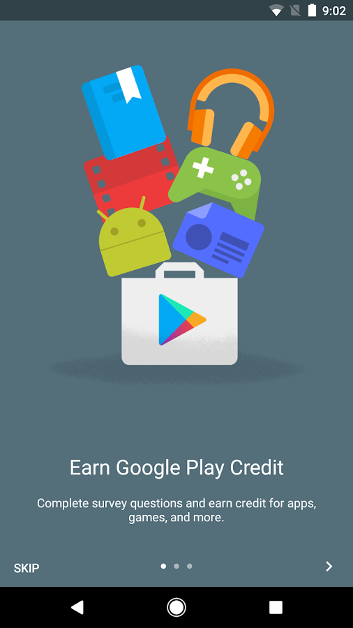 Google Opinion Rewards (ekrano kopija)