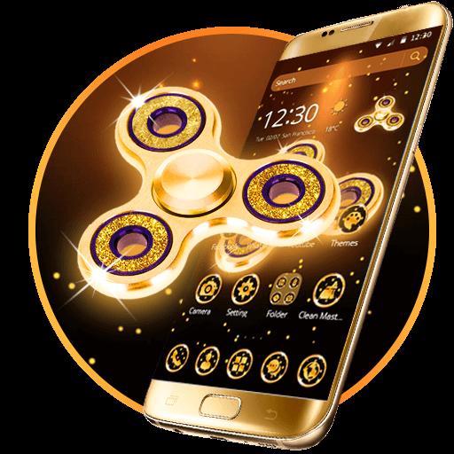 Golden Fidget Spinner Theme