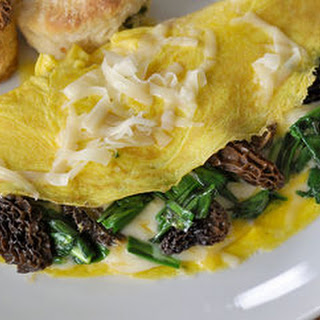 Omelette with Morels & Ramps.