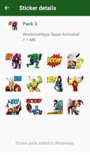☆Nuevos Stickers de Super Heroes (WAStickerApps) Screenshot