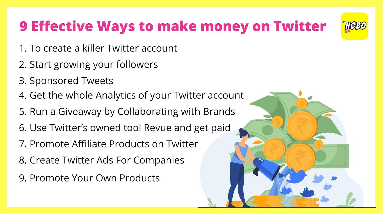 Make money on Twitter: 9 Steps