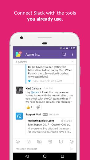 Screenshot 4 for Slack's Android app'