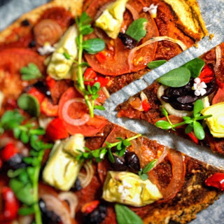 Lentil Pizza Crust [Vegan, Gluten-Free].