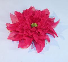 Photo: Цветок -брошка из вуали