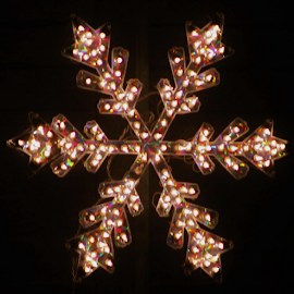 Christmas Star by Leah Zisserson - Public Holidays Christmas ( snowflake, star, electric, neighborhood scene, virginia, decoration, christmas, lights )
