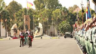 El general Javier Varela Salas pasa revista