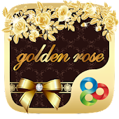 Golden Rose GO Launcher Theme