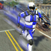 Super Speed Police Robot War: Mechs City Battle