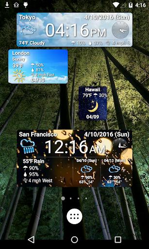 World Forecast Clock Widget screenshot 2